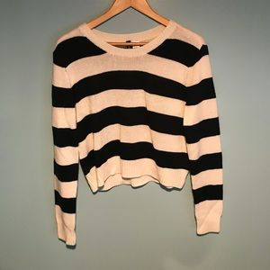 H&M cropped striped sweater